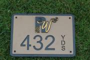 Custom In-Ground Yardage Plates -Rockwind