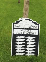 Golf Tournament Plaques -Eagle Springs