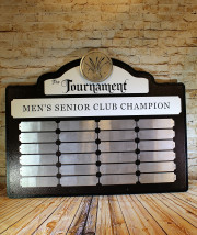 Men's Senior Club Champion Perpetual Plaque -The Lakes at Castle Hills