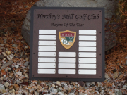 Perpetual Golf Plaque --Hershey Mills