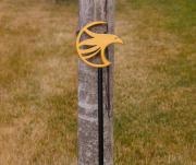 Putting Green Flagsticks -turning stone (2)
