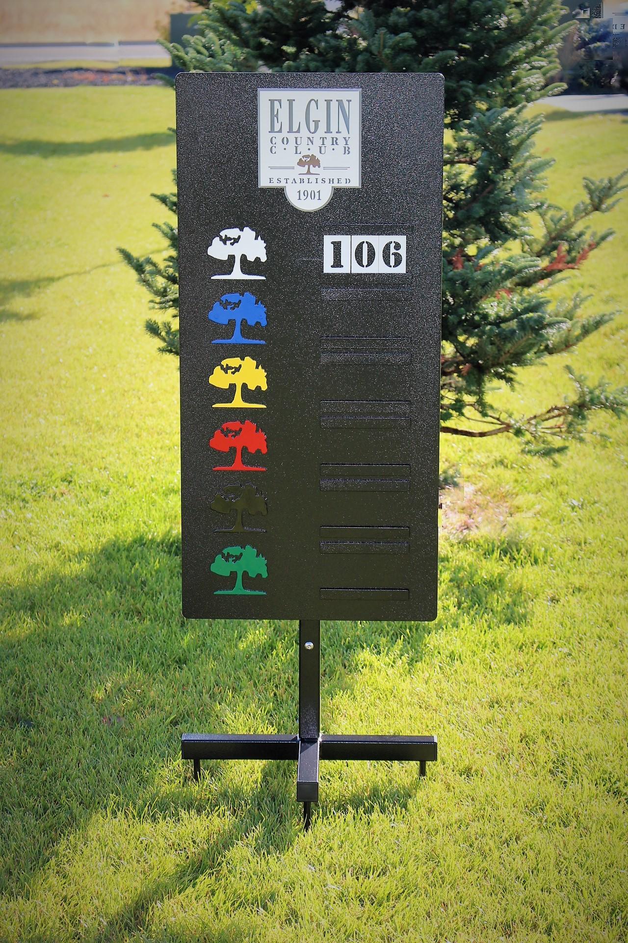 Driving Range Yardage Sign -Elgin CC
