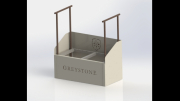 Golf Shoe Cleaning Station-Greystone