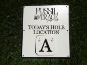Custom Golf Course Signage -Fossil Trace