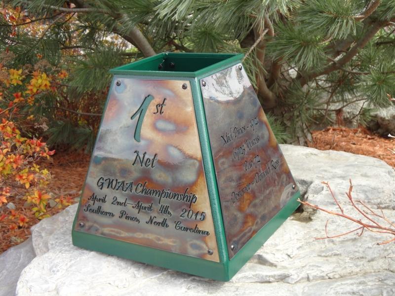 Custom Sand Box Golf Trophy -GWAA