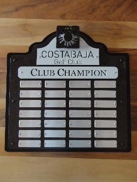 COSTA BAJA -Custom Golf Perpetual Plaque