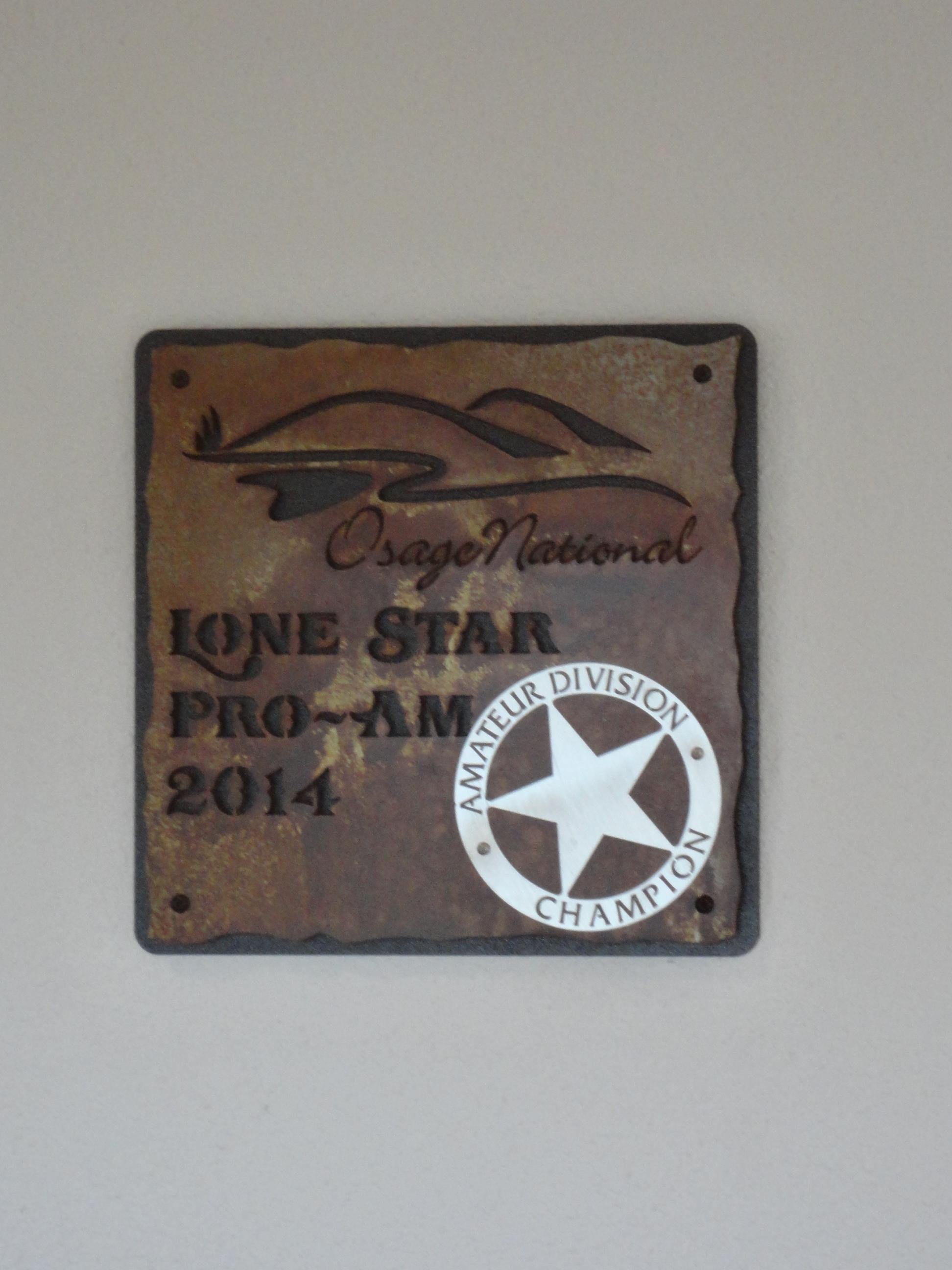 OSAGE NATIONAL -Custom Champion Plaque