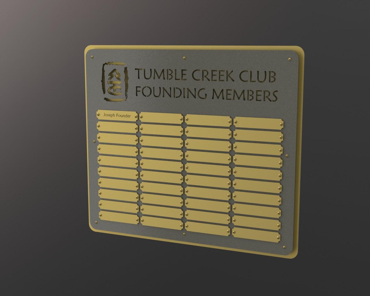 Founding Members Plaque