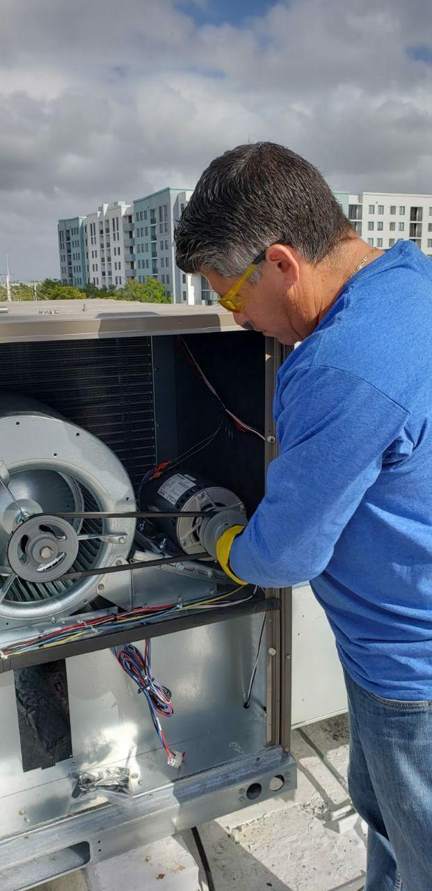 HVAC Unit Installation in the City of Sweetwater, Florida