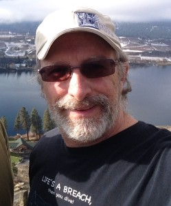 Paul Sharpe takes a selfie above Wapato Lake in Manson Washington.