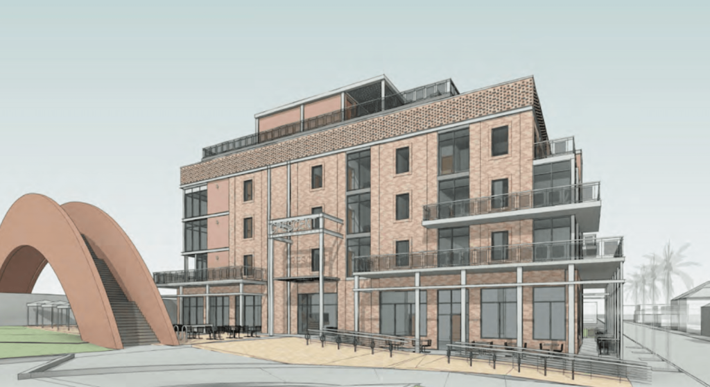 Computer generated image of the exterior of the Bywater building coming soon