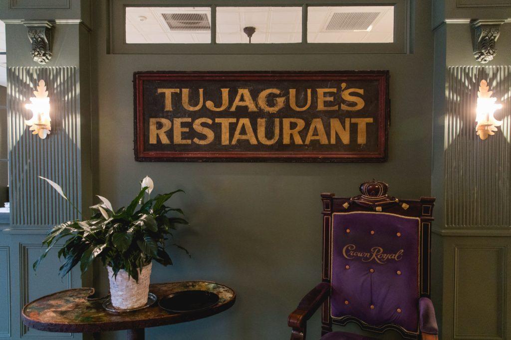old-tujagues-sign-in-restaurtant
