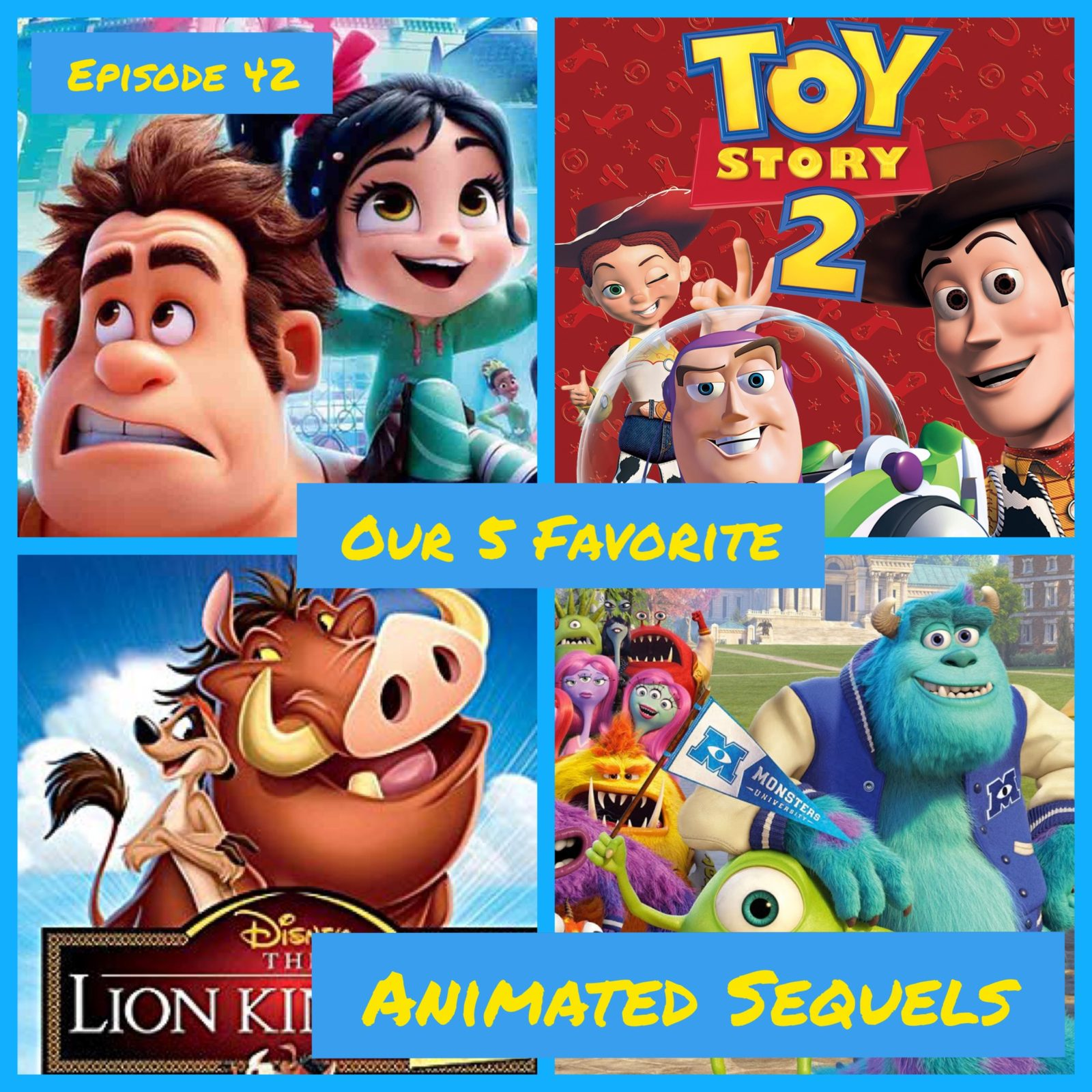 5 Favorite Animated Sequels