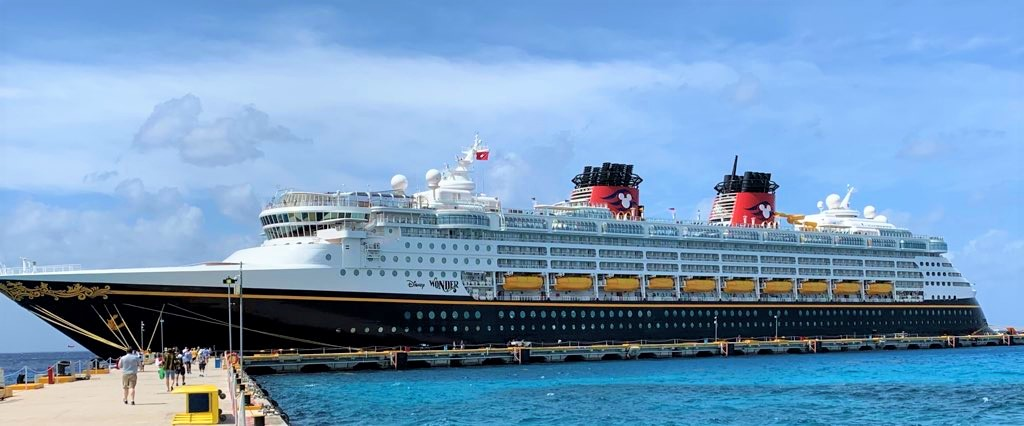 Disney Wonder in Cozumel, Mexico