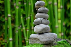 zen rocks balanced and harmonious