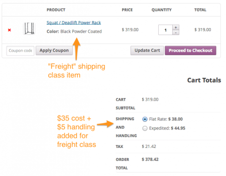 WooCommerce Shipping Classes | per item added costs