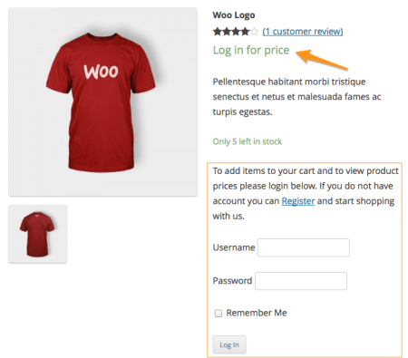 WooCommerce Catalog Visibility Options customer only