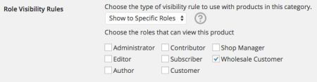 WooCommerce Wholesale Visibility: category