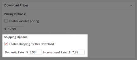 Easy Digital Downloads Simple Shipping: simple download