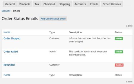 WooCommerce Order Status Manager: custom emails