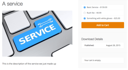 Easy Digital Downloads service upcharges