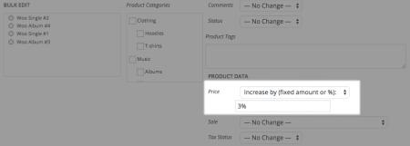 WooCommerce bulk adjust price