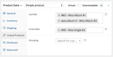 WooCommerce set cross-sells and upsells