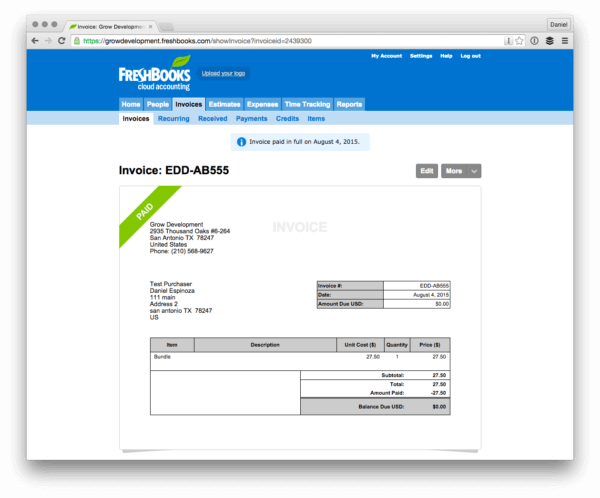 accounting for eCommerce stores freshbooks