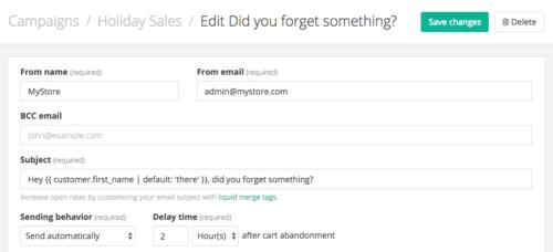 Jilt app: add customer name to subject