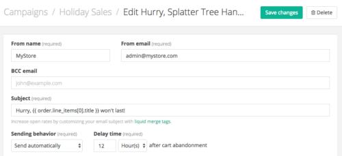 Jilt app: include product name