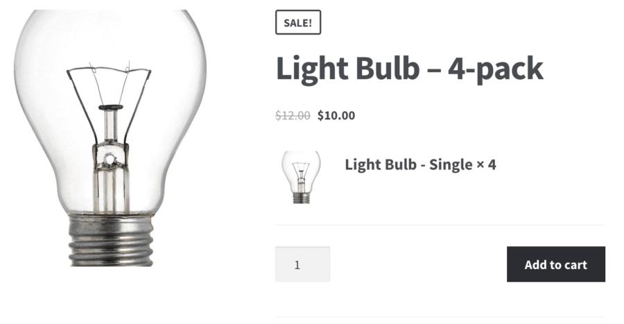 WooCommerce Product Bundles: Bundle product