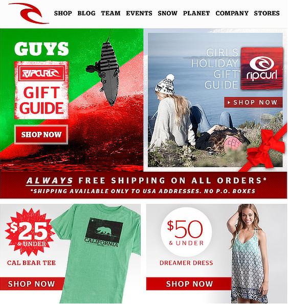 2018 holiday email marketing campaign