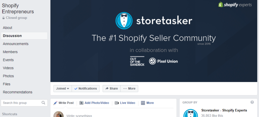 eCommerce Facebook groups