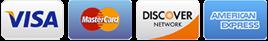 Visa, MasterCard, Discover Network, American Express