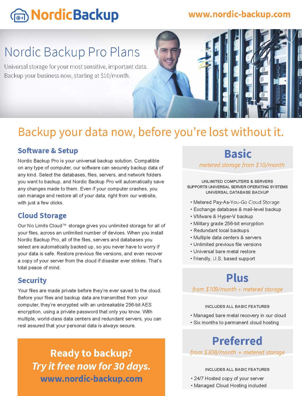 Datasheet-Nordic-Backup-Pro