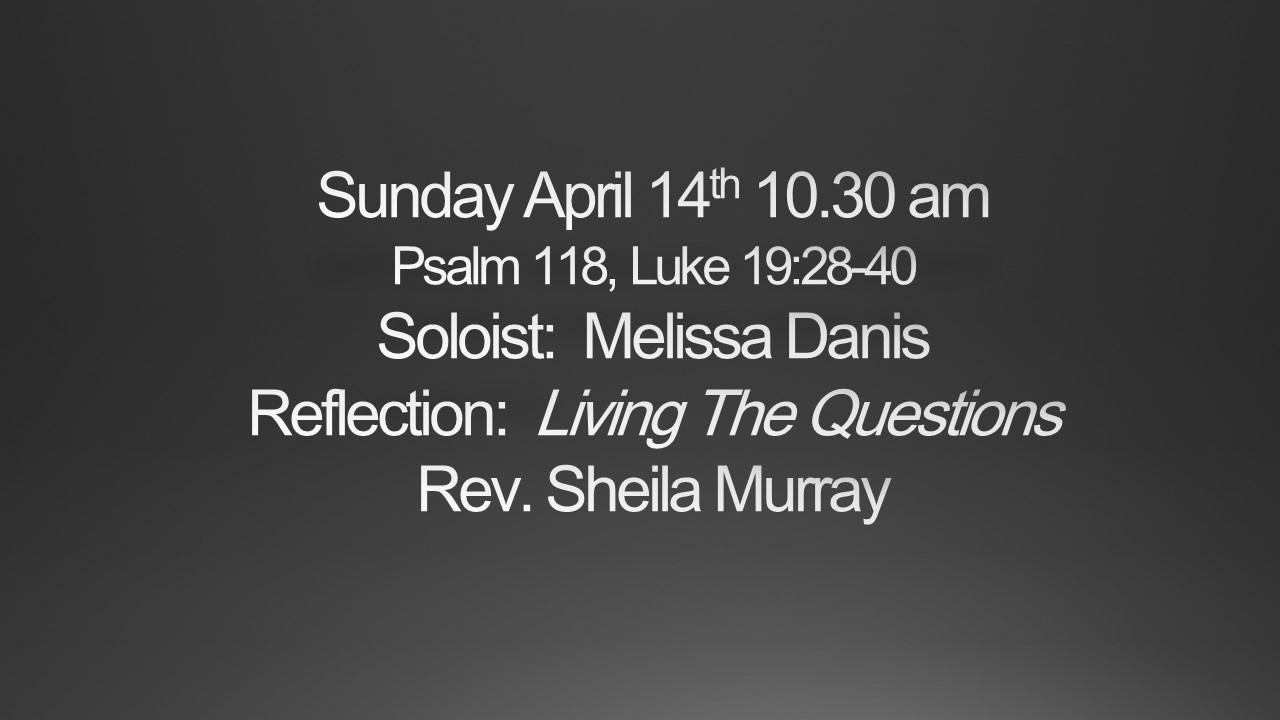 Sunday April 14th 10.30am Worship
