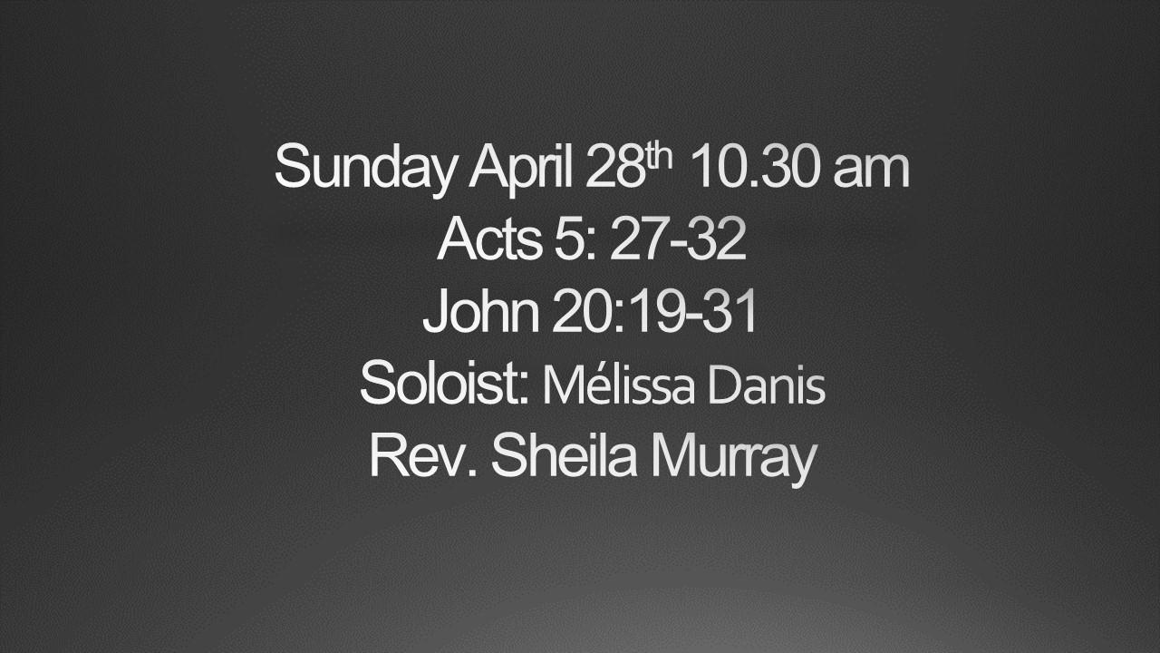 Sunday April 28th 10.30am