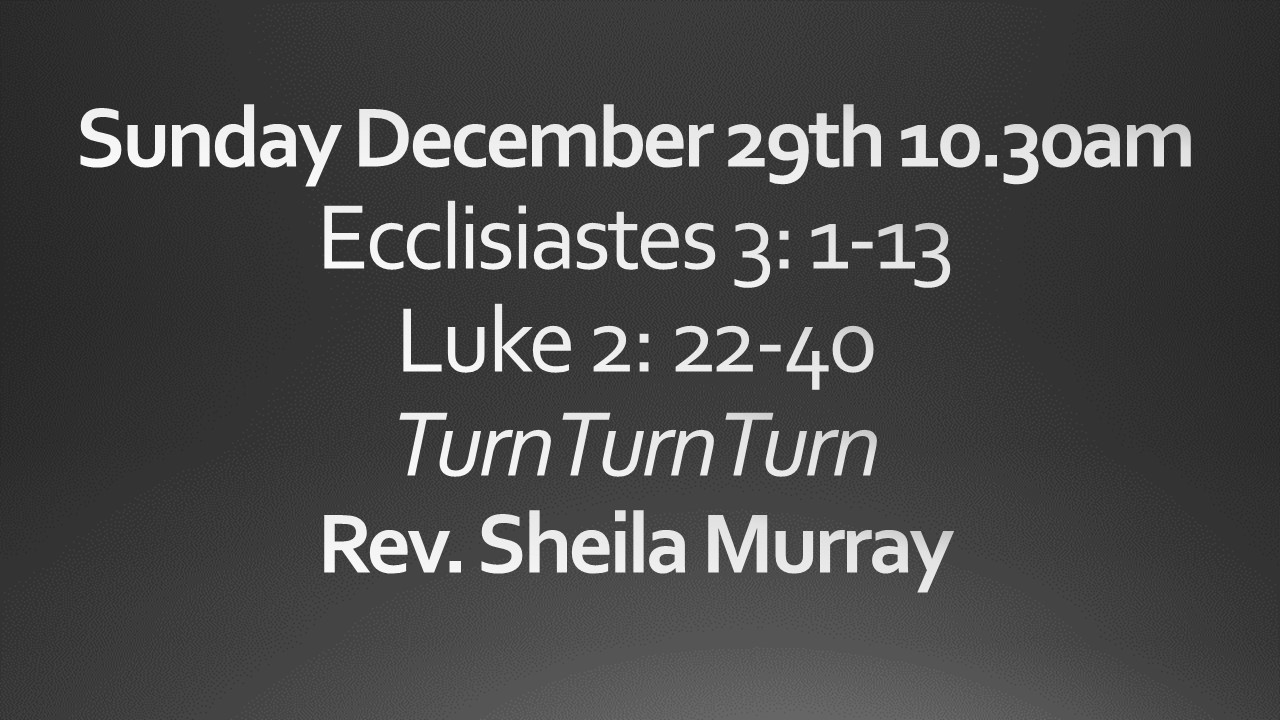 Sunday December 29 10:30 am worship