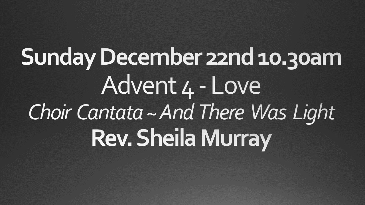 Sunday December 22 10:30 am worship