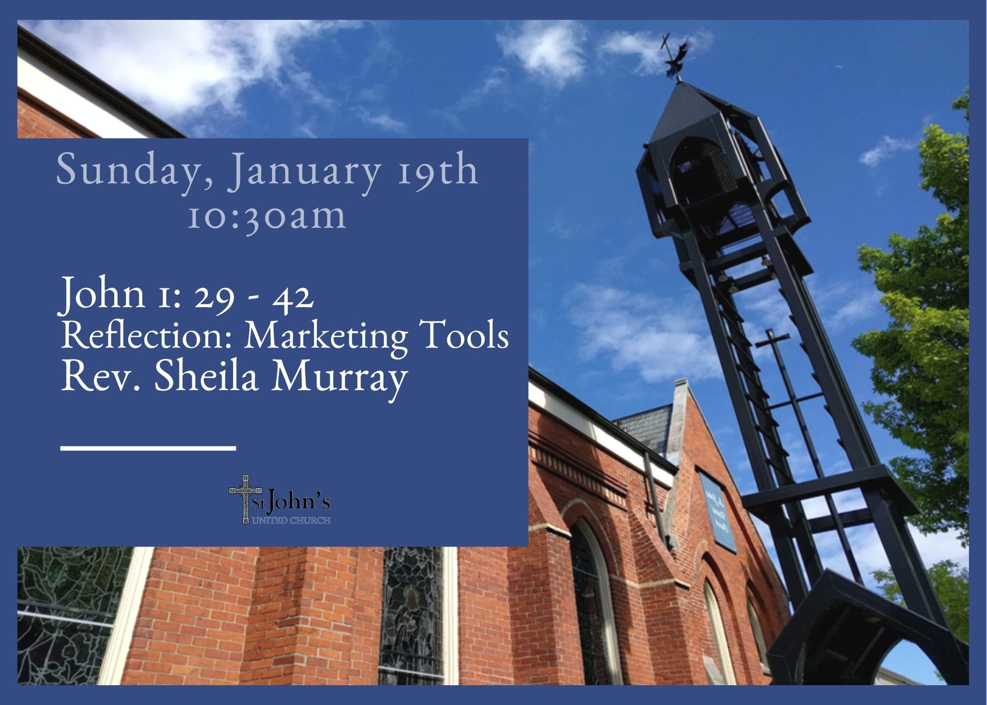 Sunday January 19 10:30 am worship