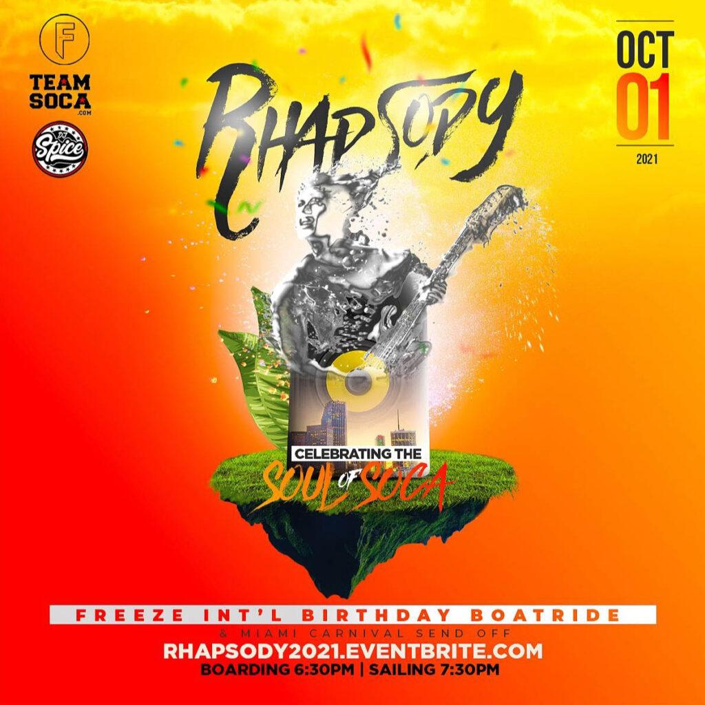 Rhapsody - Miami Carnival Send Off & Freeze Intl Birthday Boatride