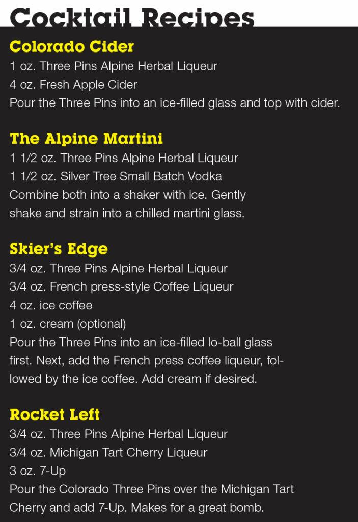 Leopold Brother's Three Pins Alpine Liqueur