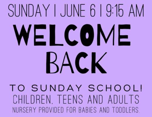 Sunday School Welcome