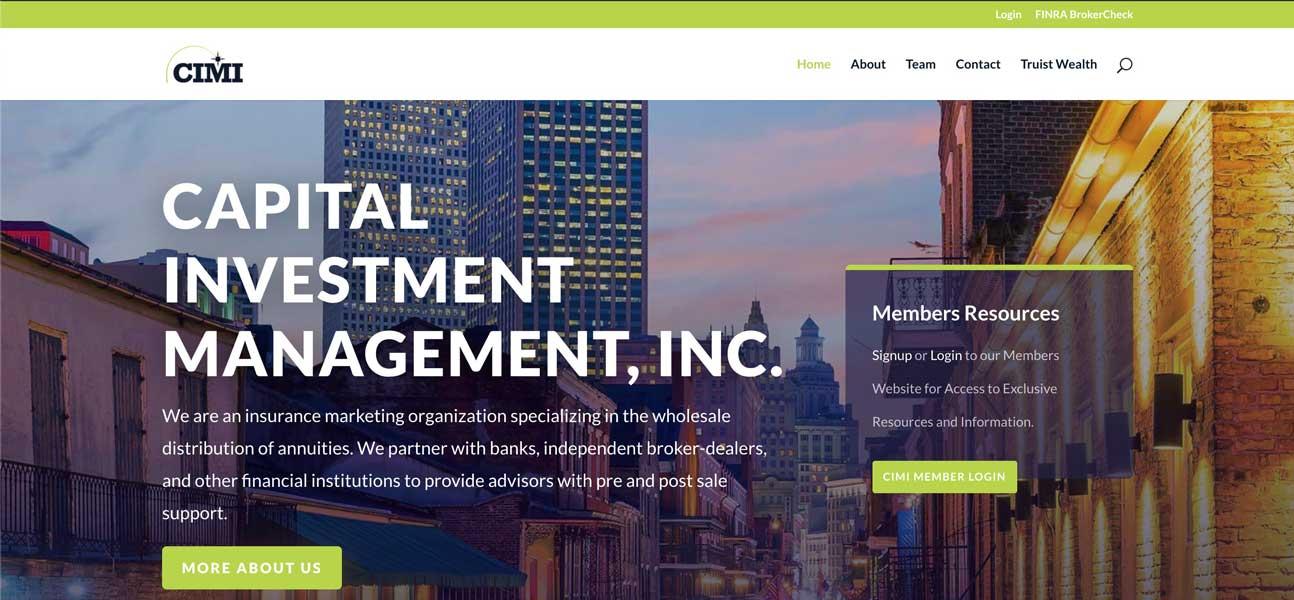 Capital Investment Management, Inc. Website