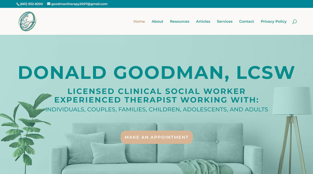 Therapy Website: Donald Goodman, LCSW