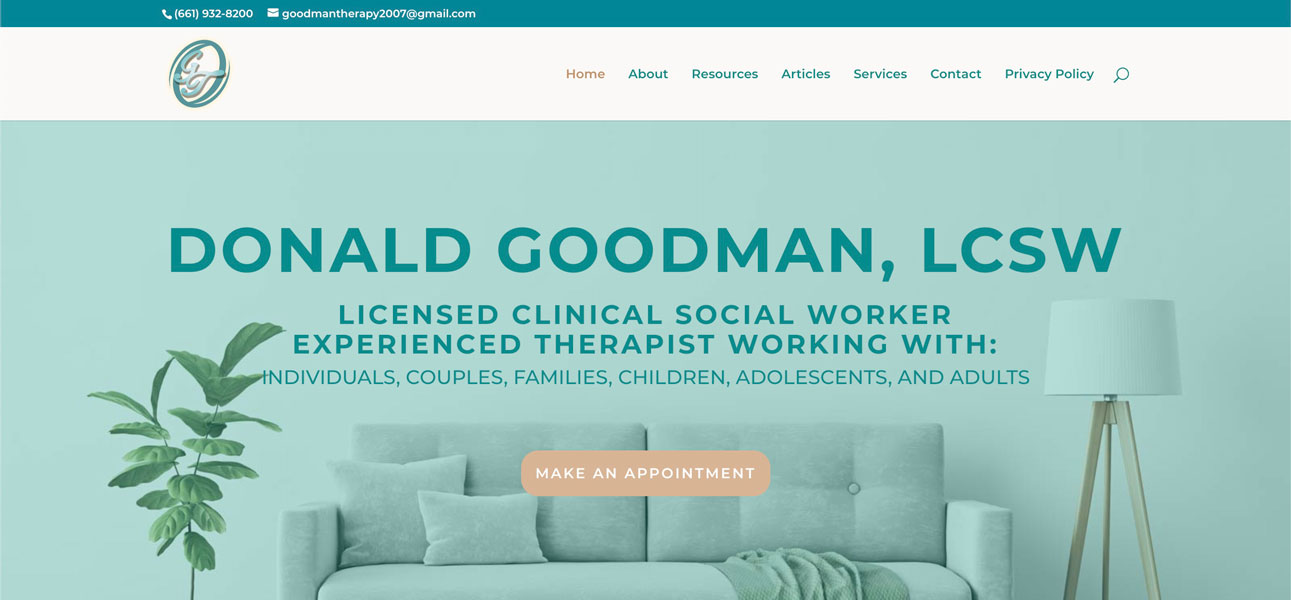 Therapy Website Donal Goodman, LCSW