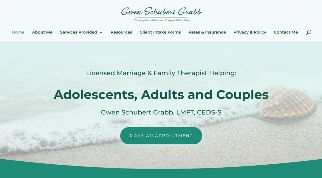 Therapy Website: Gwen Schubert Grabb, LMFT, CEDS-S