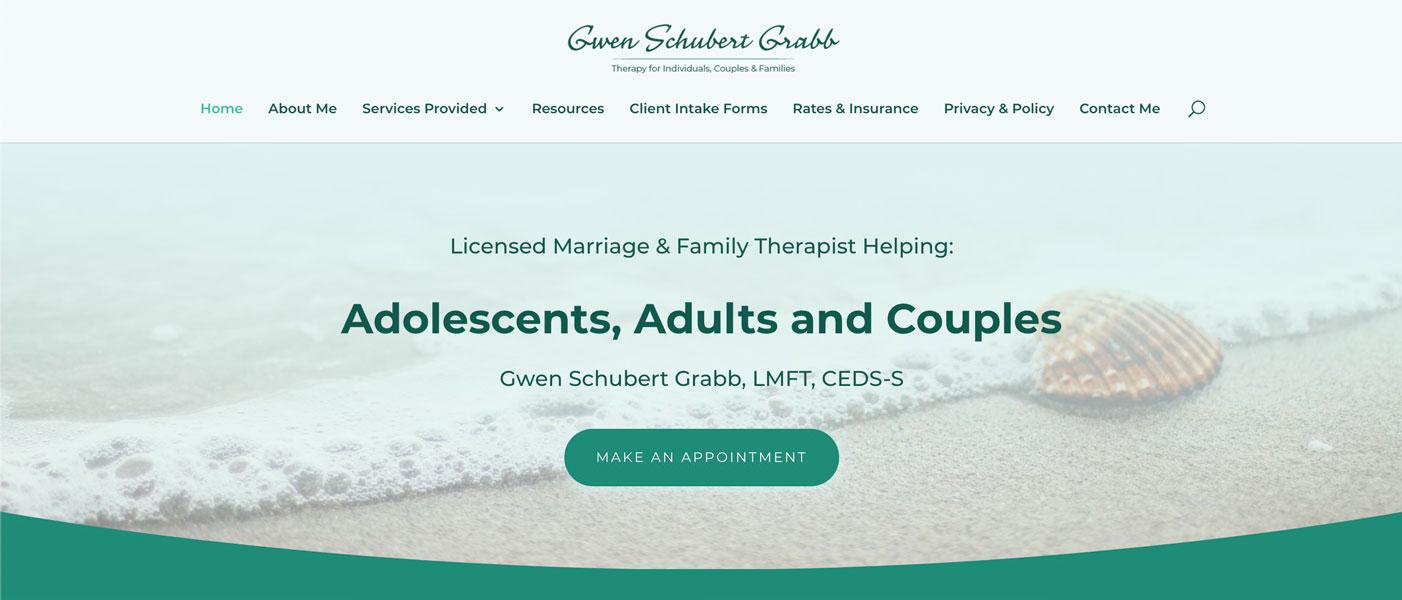 Gwen Schubert Grabb Therapy Website