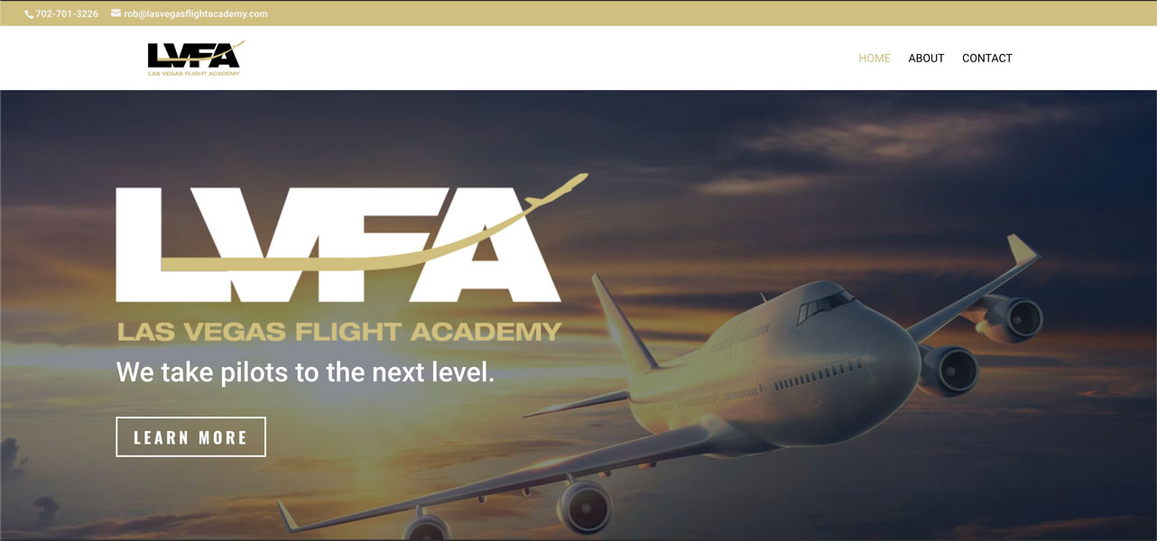 Las Vegas Flight Academy Website