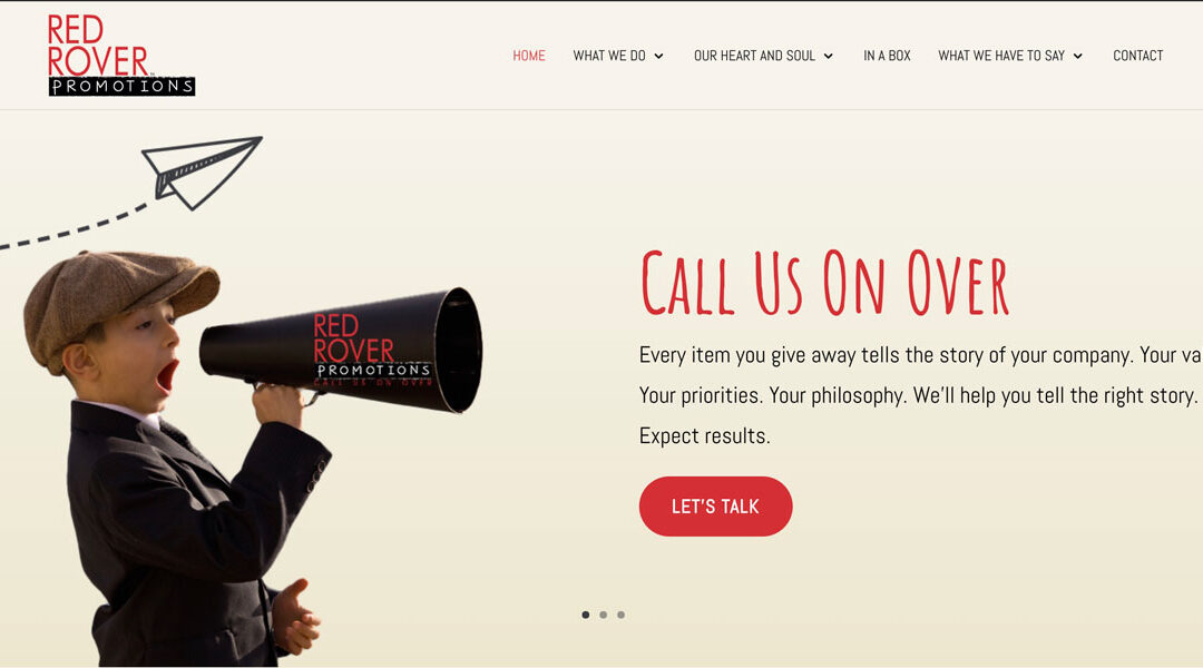 Promotional Goods Website: Red Rover Promotions